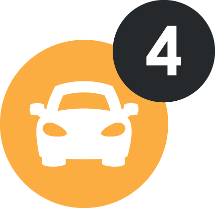 Parking for 4 cars